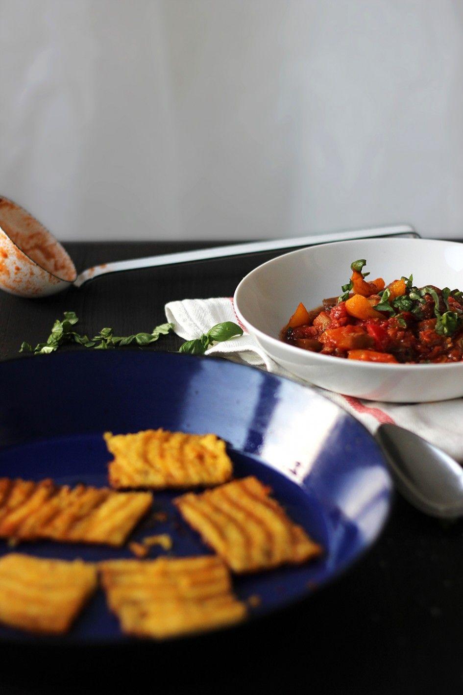 Veggie und frei von, Ratatouille mit Polentaschnitten Rezept, vegetarisch, vegan, glutenfrei