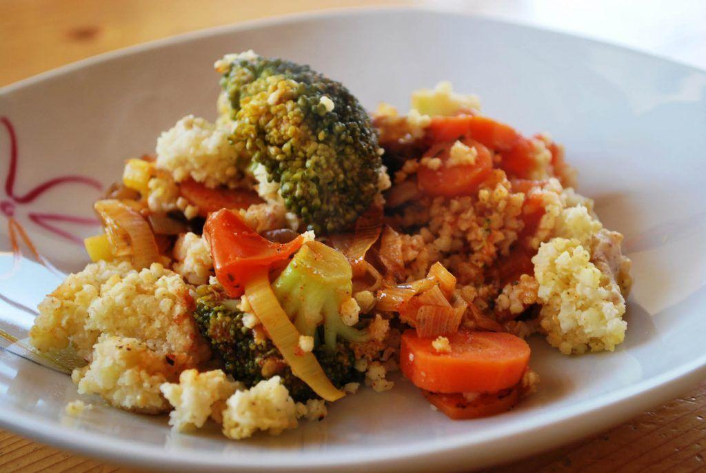Hirseauflauf, vegan, glutenfrei