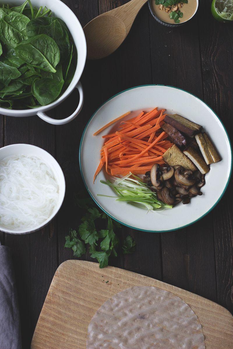 Rezept für vegane Summerrols und eine thailändische Kokossuppe