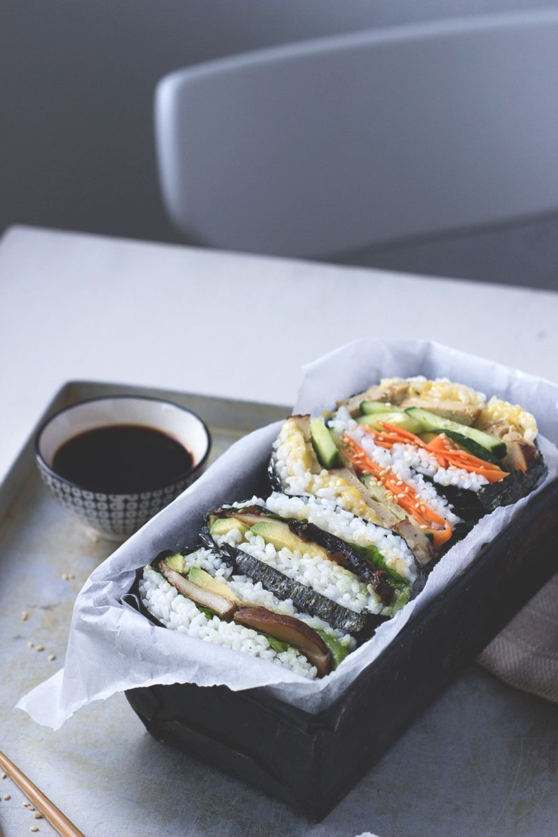 Sushi Sandwich, Onigirazu, vegan und glutenfrei